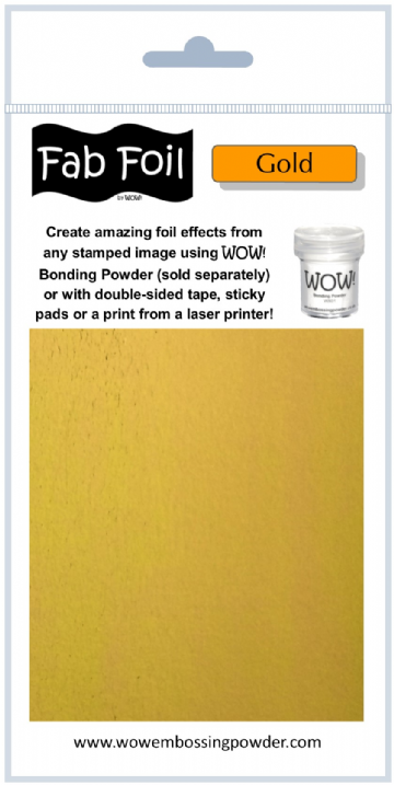Wow Fab Foil - Bright Gold